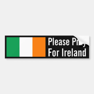 Pray for Ireland Bumper Sticker