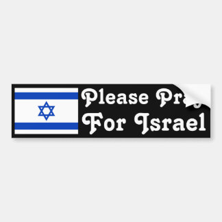 Pray for Israel Bumper Sticker