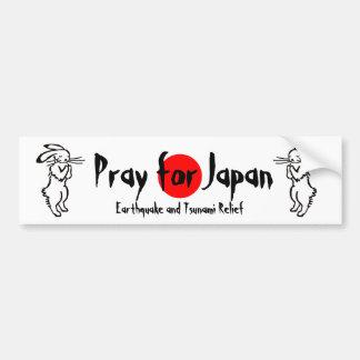 Pray for Japan (2 rabbits) Bumper Sticker