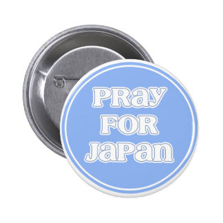 """Pray for Japan"" Blue Logo 2 Inch Round Button"