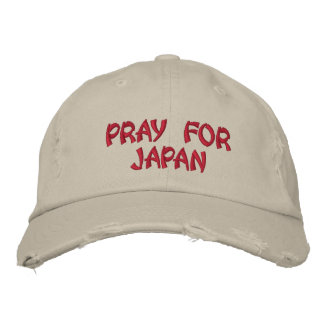 PRAY FOR JAPAN EMBROIDERED HAT