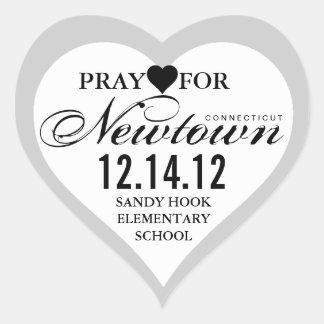 Pray For Newtown Tragedy Heart Sticker