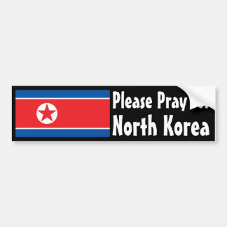 Pray for North Korea Bumper Sticker