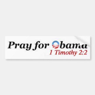 Pray for Obama Bumper Sticker