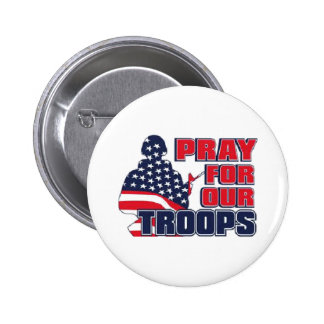 Pray For Our Troops 2 Inch Round Button