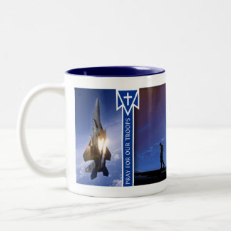 Pray for Our Troops (USAF) Two-Tone Coffee Mug