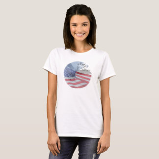PRAY FOR PEACE Dove and Flag Shirt