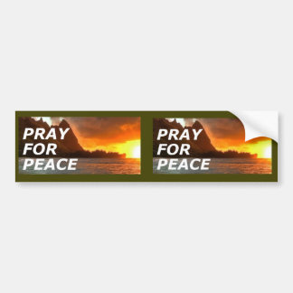 Pray for Peace in the Korean Peninsula - 2 for 1 Bumper Sticker