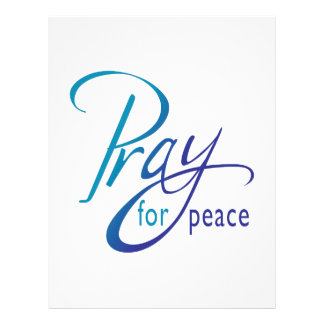 PRAY FOR PEACE LETTERHEAD DESIGN