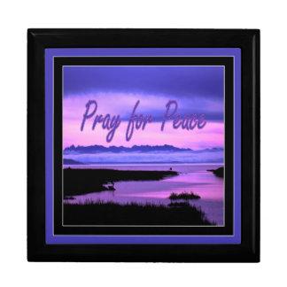 pray for peace (pink scenic) keepsake box