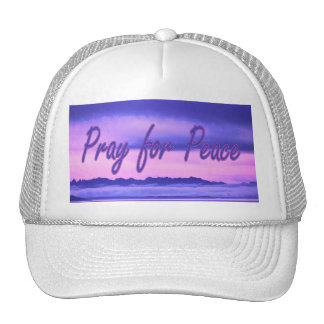 pray for peace (pink scenic) trucker hat
