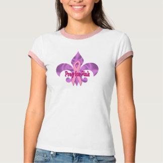 Pray for pink Fleur de lis T-Shirt
