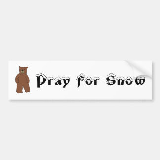 Pray For Snow Bumper Sticker