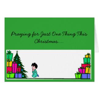 Pray for Snow Christmas Card
