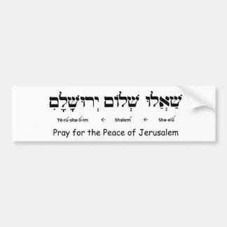 Pray for the Peace of Jerusalem Bumper Sticker