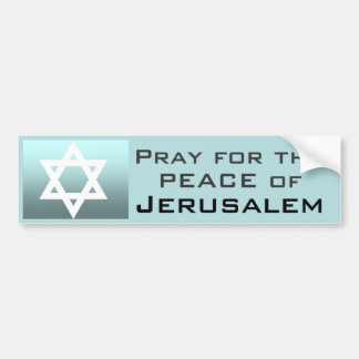 Pray for the Peace of Jerusalem Bumper Stickers