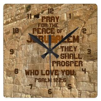Pray for the Peace of Jerusalem, Psalm 122:6 Clocks