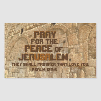 Pray for the Peace of Jerusalem, Psalm 122:6 Sticker