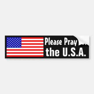 Pray for the USA Bumper Sticker