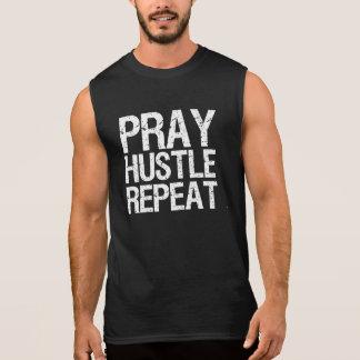Pray Hustle Repeat Men's tank