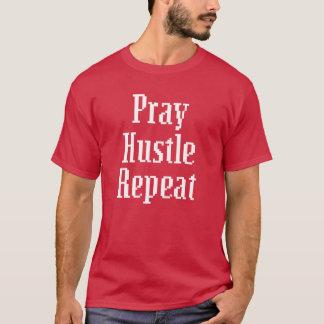 Pray Hustle repeat Pixel Saying men's shirt