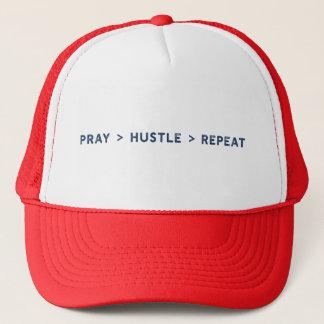 Pray Hustle Repeat Trucker Hat