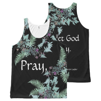 Pray Let God Worry Ferns Flowers Top