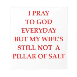 PRAY NOTEPAD