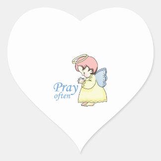 PRAY OFTEN HEART STICKERS
