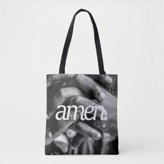 pray. Religious Design 2 Side Print Tote Bag