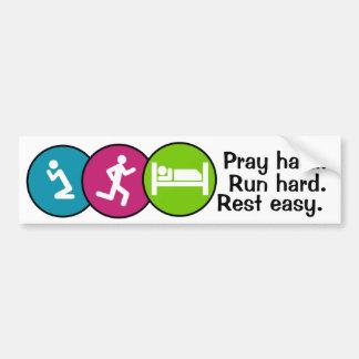 Pray run rest bumper sticker