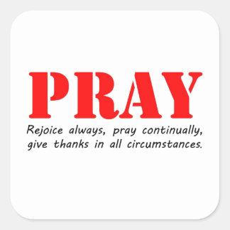 Pray Square Sticker
