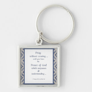 Pray Without Ceasing Inspirational Scripture Keychain