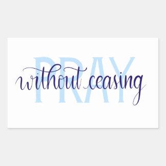 Pray Without Ceasing Sticker, Handlettered Sticker