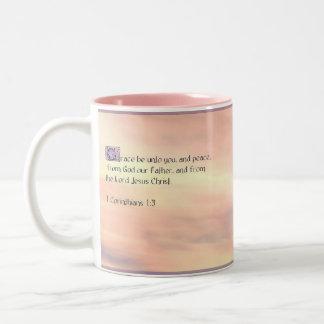 Prayer 1 Corinthians 1:3 Two-Tone Coffee Mug