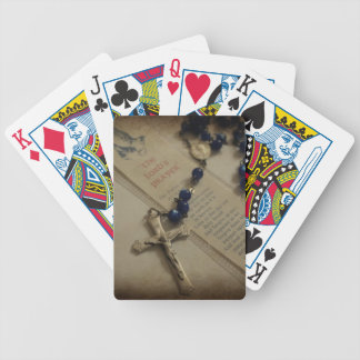 Prayer and Rosary Bicycle Playing Cards