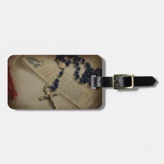 Prayer and Rosary Luggage Tag