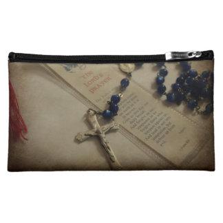 Prayer and Rosary Makeup Bag