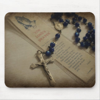 Prayer and Rosary Mouse Pad