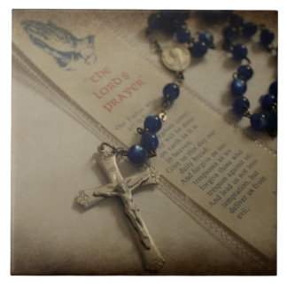 Prayer and Rosary Tile