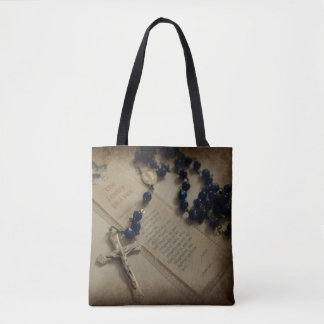 Prayer and Rosary Tote Bag