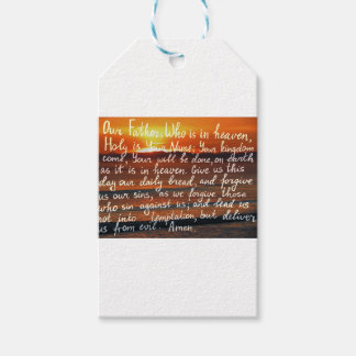 Prayer bible verse Our Father handwriting Gift Tags