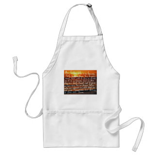 Prayer bible verse Our Father handwriting Standard Apron