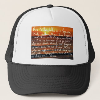 Prayer bible verse Our Father handwriting Trucker Hat