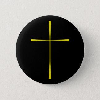 Prayer Book Cross Gold 2 Inch Round Button