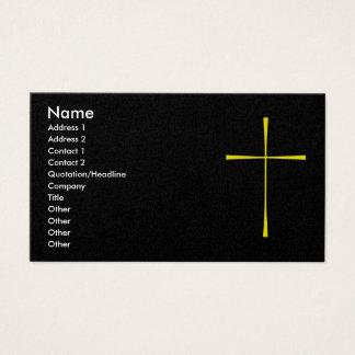 Prayer Book Cross Gold Business Card