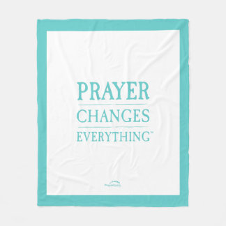 "Prayer Changes Everything 50""x60"" Fleece Blanket"