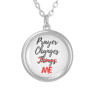 Prayer Changes ME Silver Plated Necklace