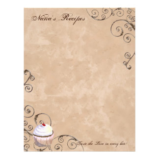 Prayer & Chocolate Woman's Recipe Pages for Binder Letterhead
