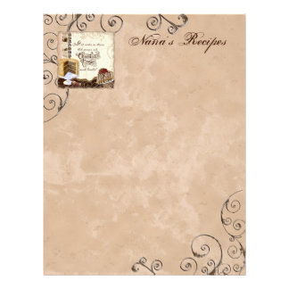 Prayer & Chocolate Woman's Recipe Pages for Binder Personalized Letterhead